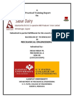 SABARDAIRY TRAINING REPORT