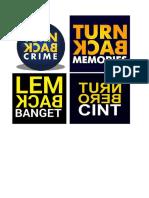Turn Back Crimes
