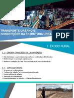 Transporte Urbano e Concepções Da Estrutura Urbana