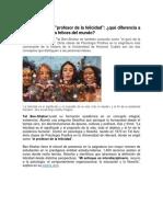 TENDENCIAS-Enseñanzas Del Profesor de La Felicidad -Que Diferencia a Las Personas Mas Felices Del Mundo