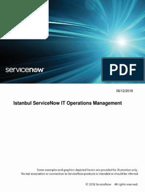 servicenow-istanbul-it-operations-management pdf | Port