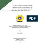 Optimalisasi Upaya Backfilling Kolam Bekas Tambang (Kolong) Timah Untuk Lingkungan Berkelanjutan Pada Area Reklamasi Unit Penambangan Darat Pt Timah (Persero), Tbk