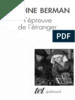 BERMAN, Antione. L'épreuve de l'étranger.pdf