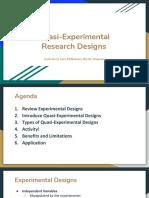 group 5  quasi-experimental design