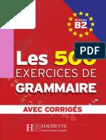Les 500 Exercices de Grammaire B2