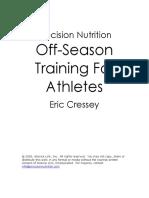Off Season Training for Athletes