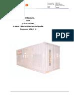 6.3 MVA Trasformer User Manual, M020118F, XABD078+