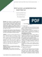 Caraccteristicas de Las Resistencias Electricas