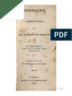 1839 Royce Universalism a Modern Invention 1839