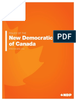 NDP 2018 Convention Policy Book