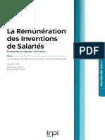 Etude Oct 2016 - Rémunération Des Inventions de Salariés