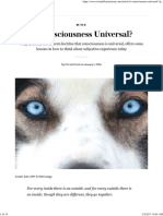 Is Consciousness Universal_ - Scientific American