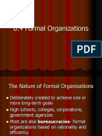 6.4- Formal Organization