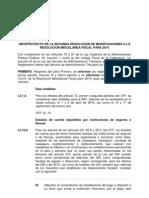 Anteproyecto de La Segunda Resolucion de Modificaciones a La Rmf 2010