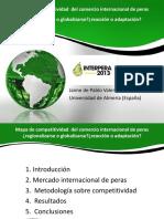 Mapa de Competitividad Del Comercio Internacional de Peras Jaime de Pablo España