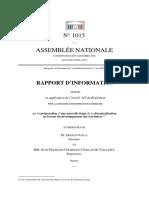 Rapport sur la préparation d'une nouvelle étape de la décentralisation en faveur du développement des territoires