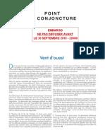 Point de conjoncture de l'Insee - 30 septembre 2010