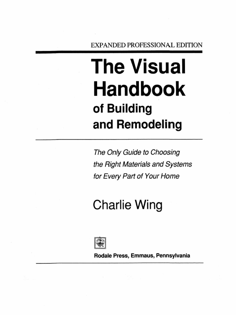 The Visual Handbook Of Building And Remodeling Pdf