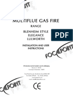 Gas Fire Instructions