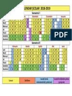 Calendar Scolar 20182019