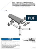 Evolution Adjustable Abdominal Bench CAB-335 Owner's Manual