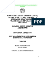 Uitoto, Tikuna, Bora, Cocama e Inga - Plan de Vida - ASOAINTAM
