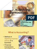Basic Accounting Terminologies