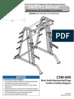 Evolution Smith Machine / Half Cage Combo (CSM-600) Owner's Manual