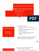 patient safety and quality care movement