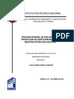 Proceso Integral de Exploración y Producción de Hidrocarburos en La Industria Petrolera Nacional