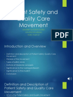 patient safety and quality care movement  1 -1  2