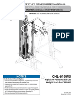 High/Low Pulley System (CHL-610WS) Owner's Manual