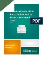 Constitución de 1853 - Pacto de San José de Flores - Reforma de 1860