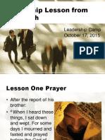 leadership lesson from nehemiah