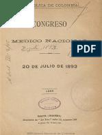 Cogreso Medico Nacional 1892