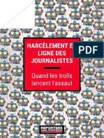 Rsf Rapport Cyberharcelement Fr