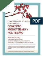 Concepto de Monotesmo y Politeismo