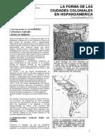 La Forma de Las Ciudades Coloniales en Hispanoamerica
