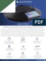 GAC2500 Spanish Datasheet