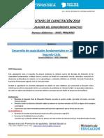 Desarrollo de Capacidades Fundamentales en Ciencias Sociales- Segundo Ciclo - MAYO
