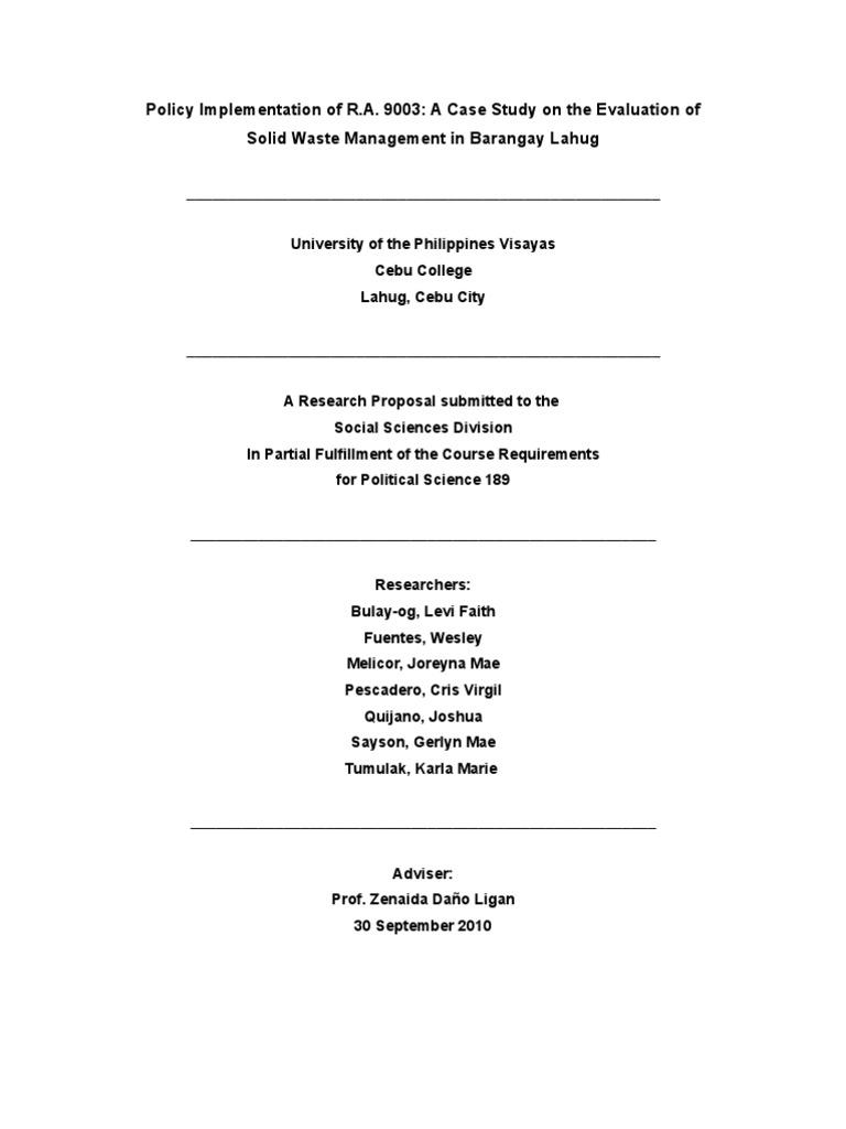 ra 9003 thesis