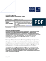 Digital Ethnography Reading List