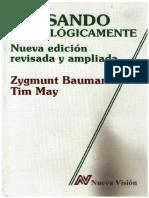 Pensando Sociologicamente Zygmunt Bauman