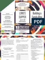 Ls Lords Supper Gen 12-7-8 Handout 072918