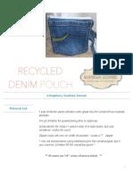 denim pouch tutorial craftsy