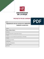 Proyecto Implantación BRC-IFS en Conservera