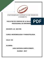 MICROBIOLOGIA CUESTIONARIO