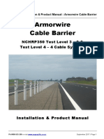 Armorwire Cable Barrier Install Product Manual 2017