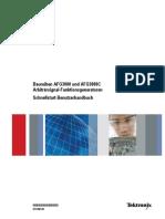 AFG3000 Series Arbitrary Function Generators Quick Start User Manual de De