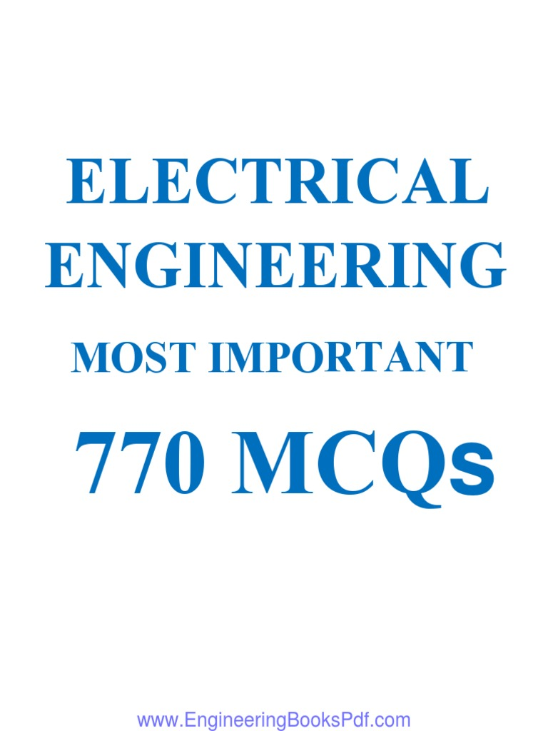 Electrical Engineering Most Important 770 Mcqspdf Capacitor Electronic Circuit Design Mcqs Series And Parallel Circuits